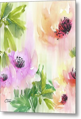Metal Print featuring the painting Weeping Rose Forest by Colleen Taylor