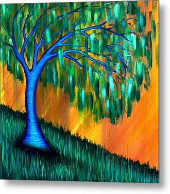 Weeping Willow Metal Print by Brenda Higginson