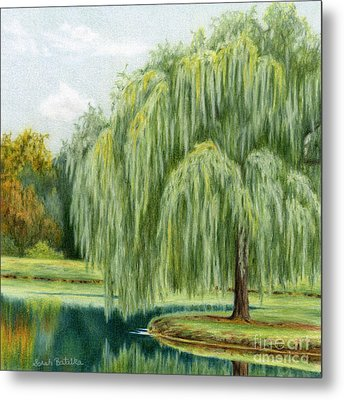 Under The Willow Tree Metal Print