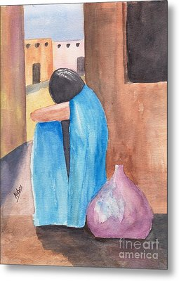 Weeping Woman  Metal Print by Susan Kubes