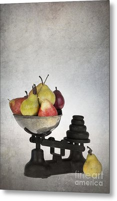 Weighing Pears Metal Print by Jane Rix