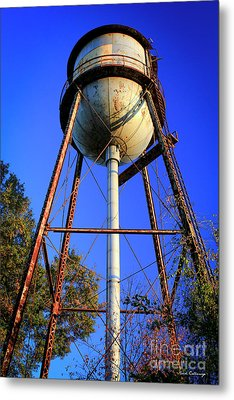 Metal Print featuring the photograph Weighty Water Cotton Mill  Water Tower Art by Reid Callaway