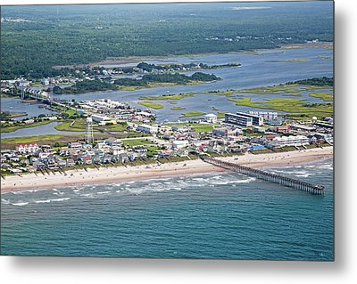 Welcome Aboard Surf City Topsail Island Metal Print by Betsy Knapp