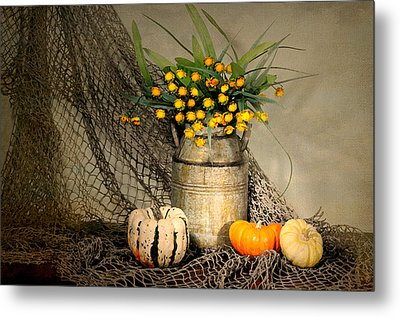 Welcome Autumn Metal Print by Diana Angstadt