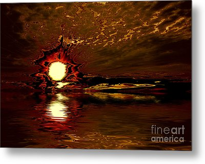 Welcome Beach Sunset 2 Series 1 Metal Print