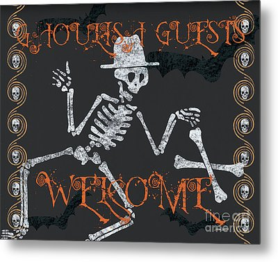 Welcome Ghoulish Guests Metal Print