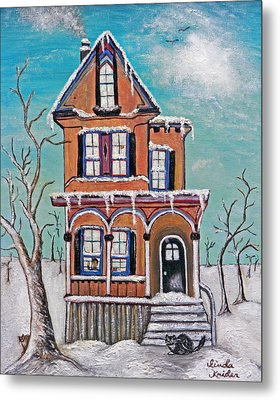 Welcome Home Metal Print by Linda Krider Aliotti