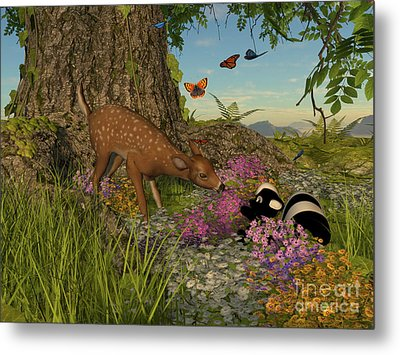 Metal Print featuring the digital art Welcome Spring by Methune Hively