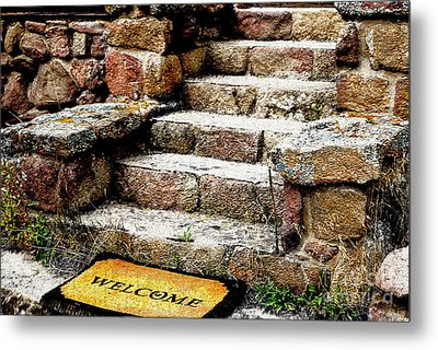 Welcome Steps Metal Print