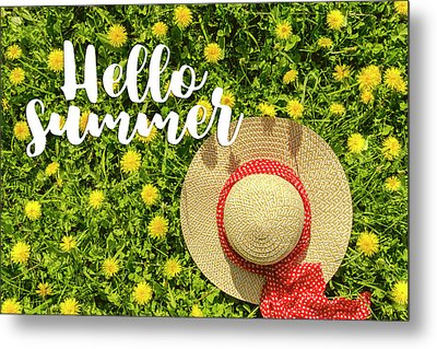 Metal Print featuring the photograph Welcome Summer by Teri Virbickis