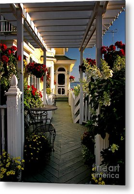 Welcome To Bay View Inn On Mackinac Island Metal Print