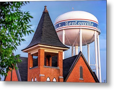 Welcome To Bentonville Arkansas Metal Print by Gregory Ballos