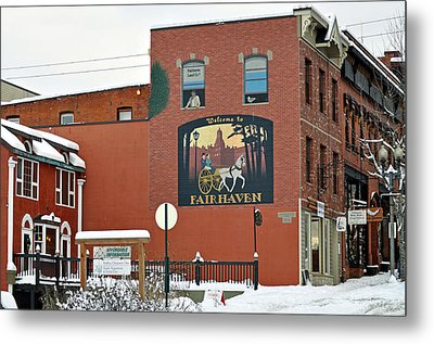 Welcome To Fairhaven Metal Print by Matthew Adair