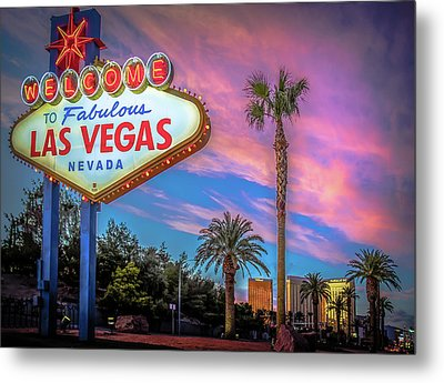 Welcome To Las Vegas Metal Print by Mark Dunton