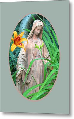 Peace Be With You - Images From The Garden Metal Print