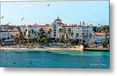 Welcome To Nassau Metal Print by Christopher Holmes