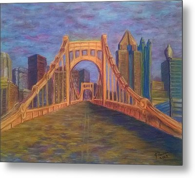 Welcome To Pittsburgh Metal Print by Joann Renner