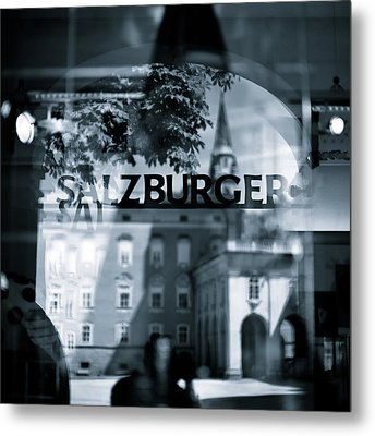 Welcome To Salzburg Metal Print by Dave Bowman