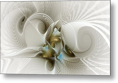 Welcome To The Second Floor-fractal Art Metal Print