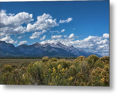 Welcome To The Tetons - Grand Teton National Park Wyoming Metal Print by Brian Harig