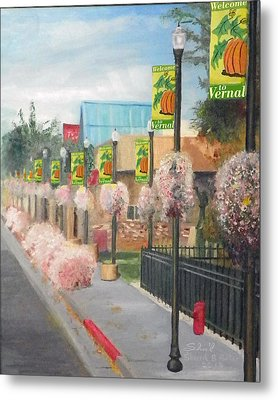 Metal Print featuring the painting Welcome To Vernal by Sherril Porter