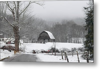 Welcome To Winter Metal Print by Benanne Stiens