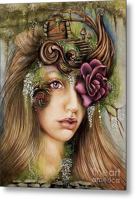 Metal Print featuring the drawing Welcome To Wisteria  by Sheena Pike