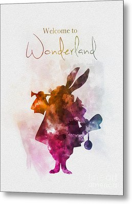 Welcome To Wonderland Metal Print by Rebecca Jenkins