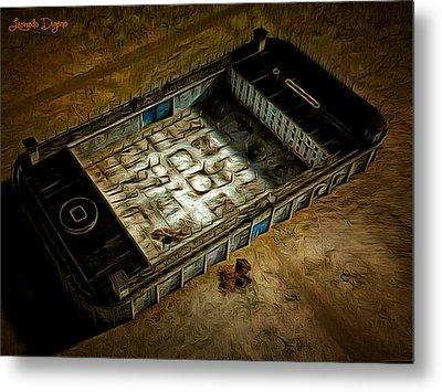 Welcome To Your Prison - Da Metal Print by Leonardo Digenio