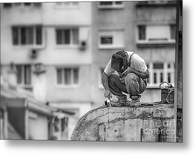 Welding Metal Print by Jivko Nakev