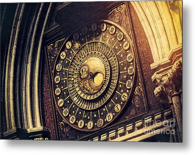 Wells Cathedral Astronomical Clock  Metal Print by Tim Gainey