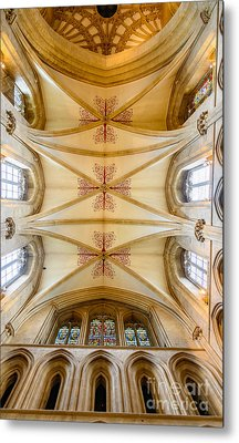 Wells Cathedral Ceiling Metal Print by Colin Rayner
