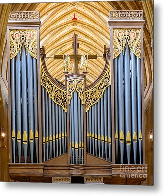 Metal Print featuring the photograph Wells Cathedral Organ by Colin Rayner