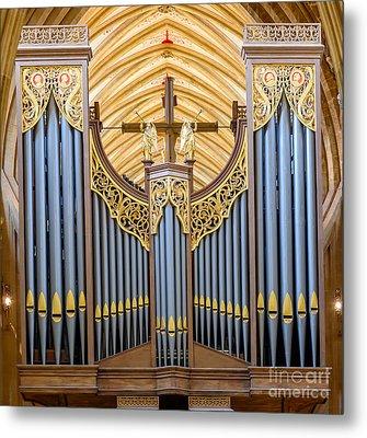 Wells Cathedral Organ Metal Print