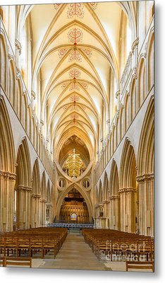 Wells Cathedral Nave Metal Print