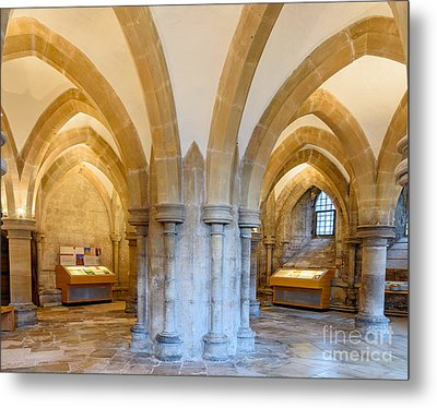 Wells Cathedral Undercroft Metal Print by Colin Rayner
