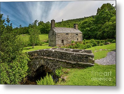 Welsh Farmhouse Metal Print by Adrian Evans