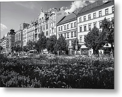 Metal Print featuring the photograph Wenceslas Square In Prague by Jenny Rainbow