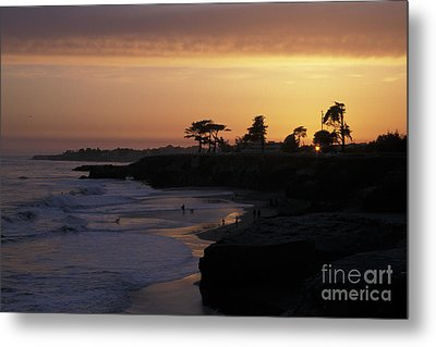 West Cliff At Sunset Metal Print by Stan and Anne Foster