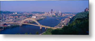 West End Bridge At The Three Rivers Metal Print by Panoramic Images