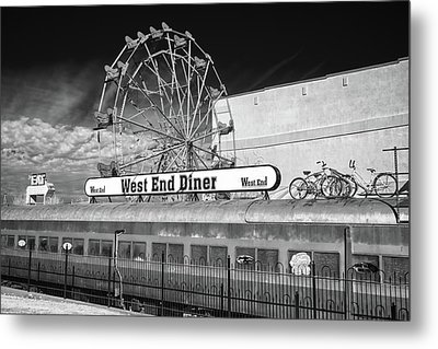 Metal Print featuring the photograph West End Diner by James Barber