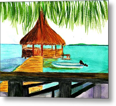 West End Roatan Metal Print by Donna Walsh