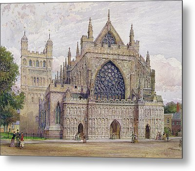 West Front, Exeter Cathedral Metal Print by George Nattress