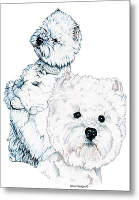 West Highland White Terriers Metal Print by Kathleen Sepulveda