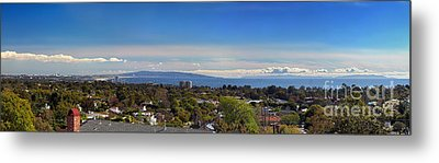 West La And Catalina Island From Pacific Palisades Metal Print