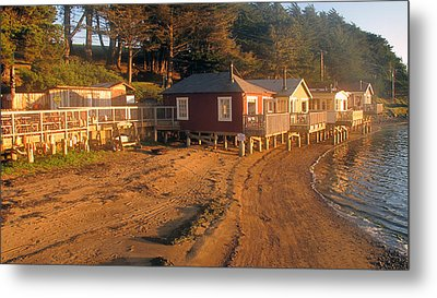 West Marin Nick's Cove Cottages Metal Print