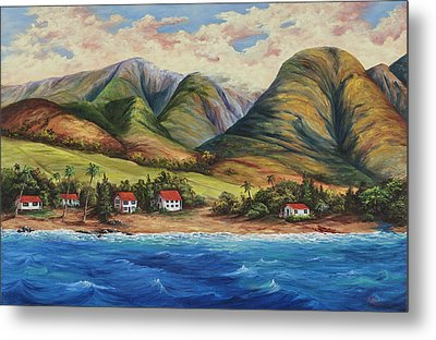 Metal Print featuring the painting West Maui Living by Darice Machel McGuire