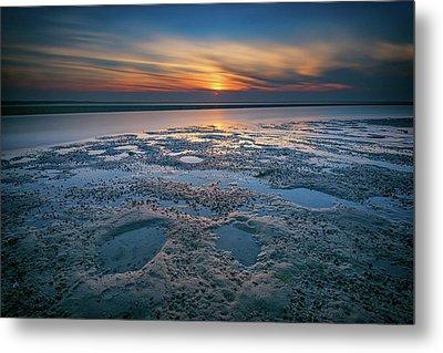 West Meadow Beach Afterglow Metal Print by Rick Berk