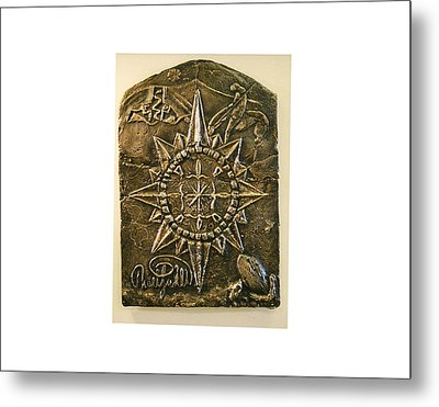 West Meets Southwest Compass Rose Metal Print by Thor Sigstedt