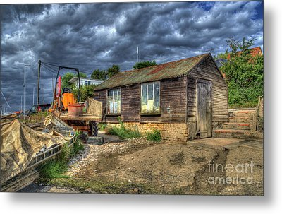 West Mersea Oyster Shed Metal Print